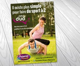 Flyers pour club de fitness