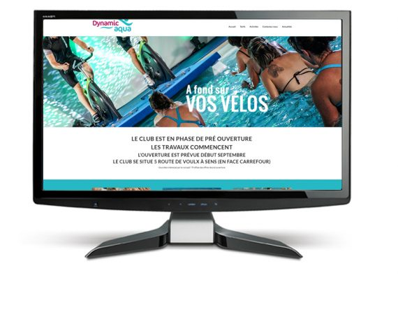 Un site internet pour un club d'aqua fitness